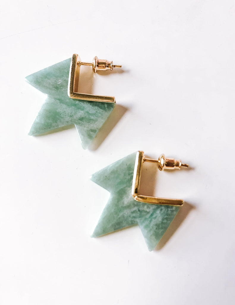 Spike Coin Stud Earrings