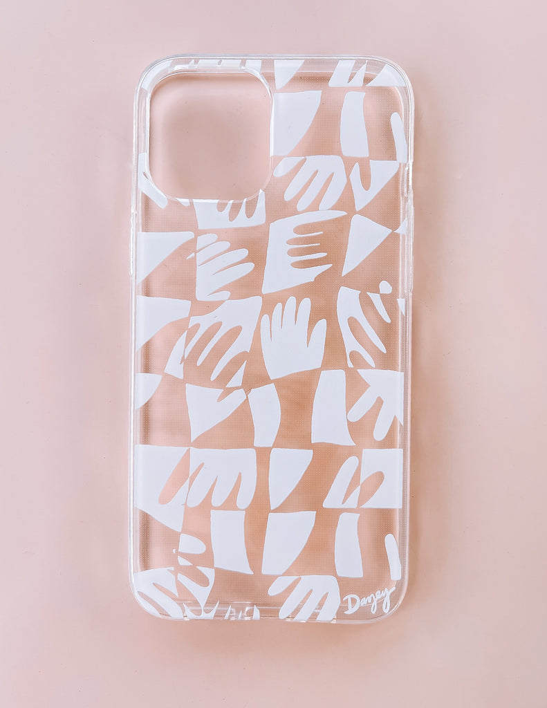 Hand Print iPhone Case - White