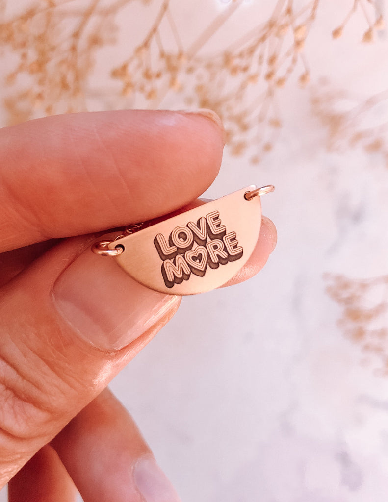 Love More Half Moon Necklace