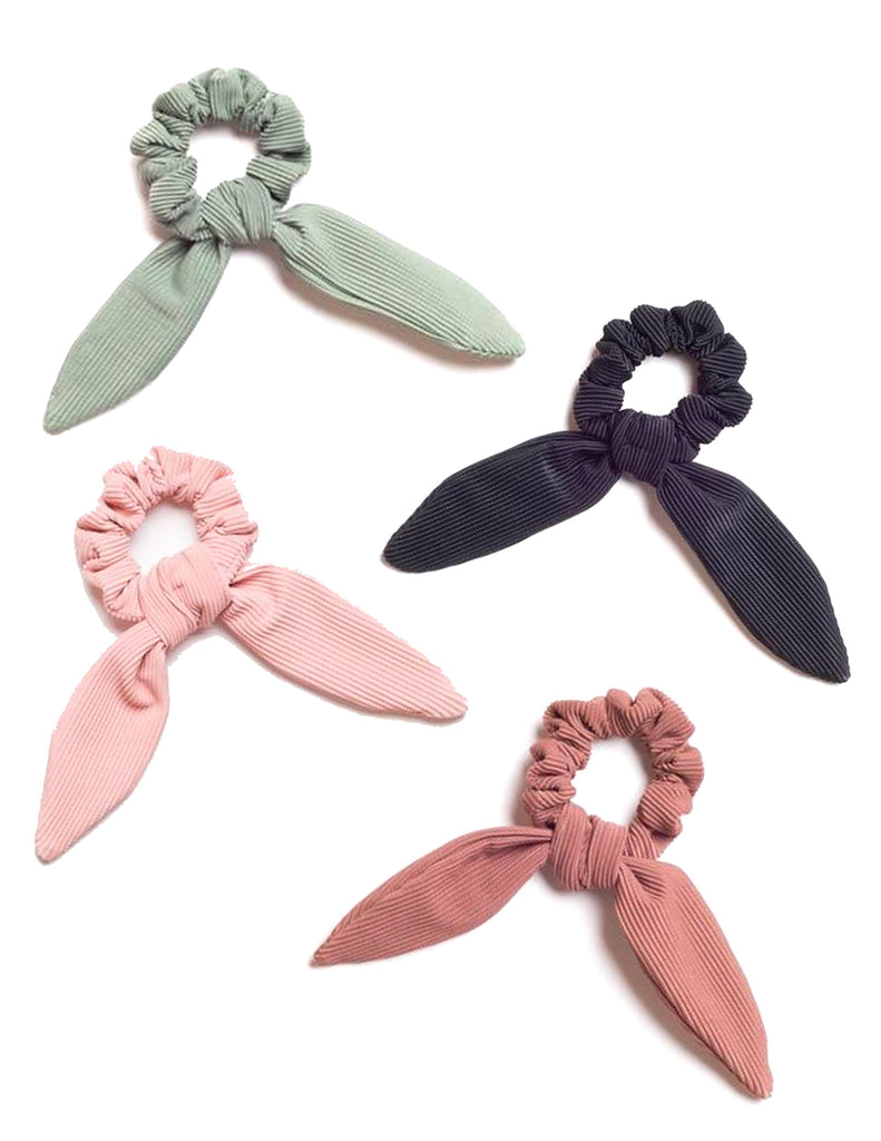 Ribbed Scrunchie Ties (Multiple Colors)