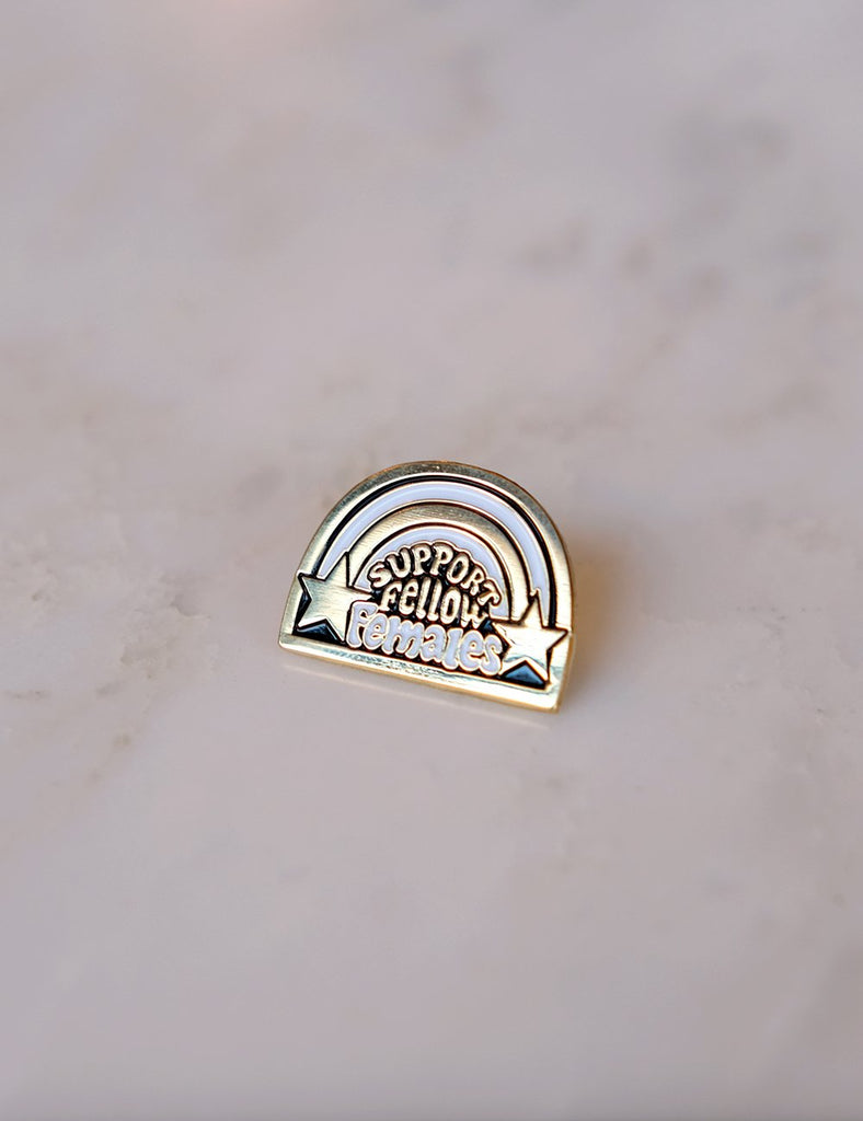 Support Fellow Females Pin