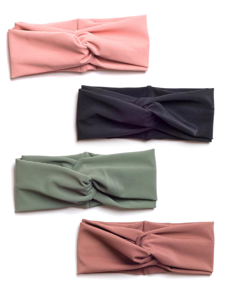 Ribbed Wrap Headbands (Multiple Colors)