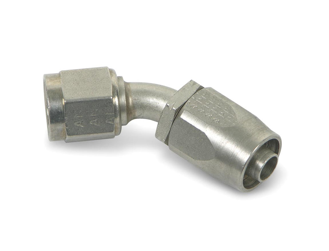 Earls 45 Degree Auto-Fit Hose End AN -6 - Stainless Steel - (CFRL_494606ERL)