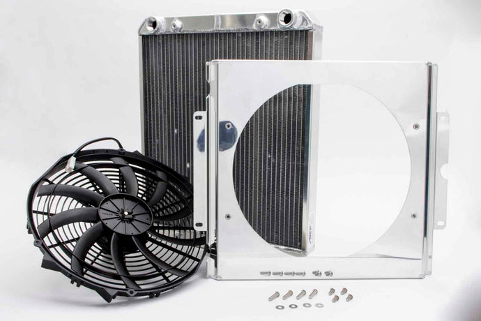Dragster Radiator w/ Fan and Shroud