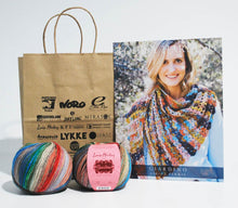 Load image into Gallery viewer, Louisa-Harding-Kit Perris Crochet Shawl in Giardino