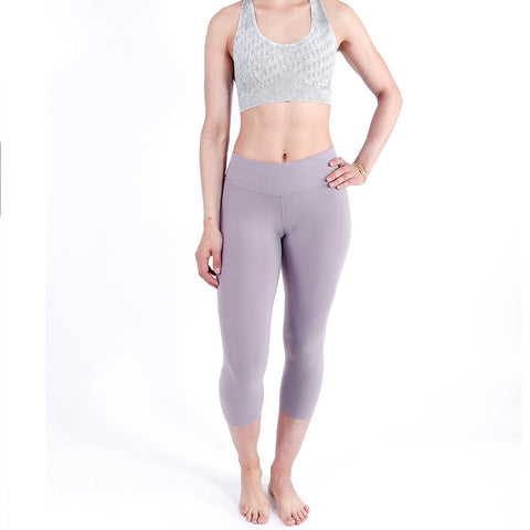 Bodied Feather Grey Vintage Capri Leggings