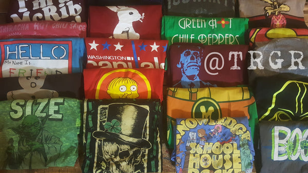 Green Hot Chili Peppers, Tigger #45, Large Green Short Sleeve T-Shirt, TeeShirts, FREE Shipping