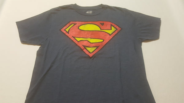Superman, Medium Blue Short Sleeve Tee Shirt, T-Shirt, FREE Shipping