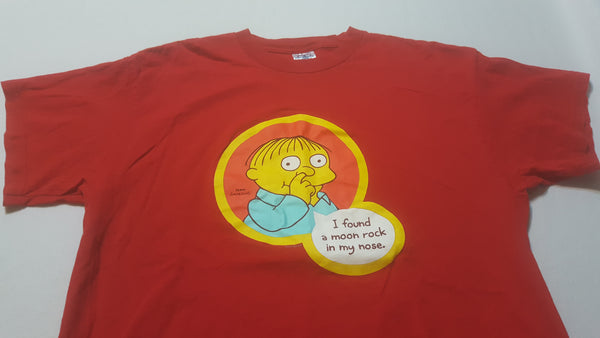 the Simpsons, RALPH, Large Red Short Sleeve T-Shirt, FREE Shipping