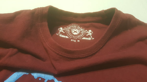 Trust the Government, Medium Maroon Short Sleeve T Shirt, FREE Shipping