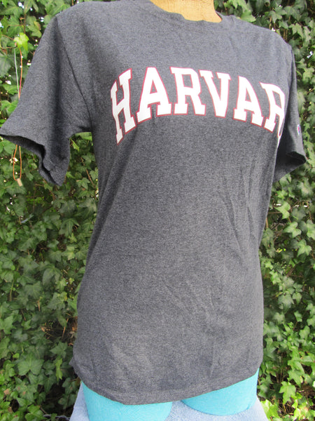 Harvard Champion Small Grey of Short Sleeve T-Shirt, FREE Shipping