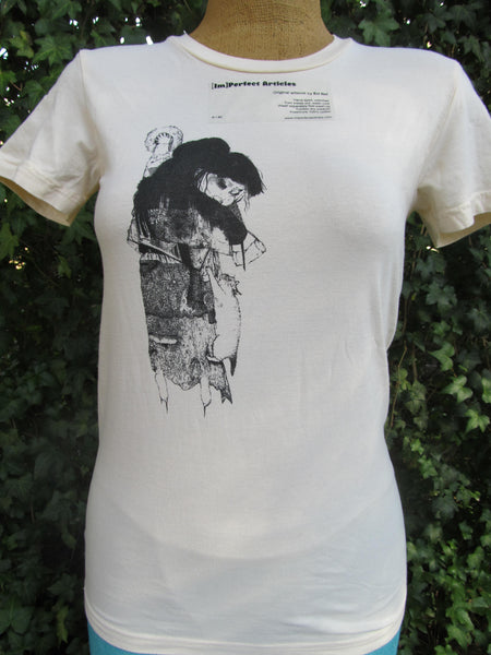 Art by Eri Itoi Imperfect Articles NEW! Medium Ivory Short Sleeve T-Shirt, FREE Shipping
