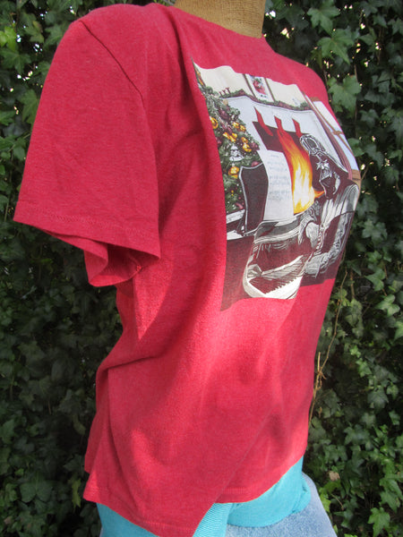 Star Wars Christmas XLarge Red Short Sleeve T-Shirt, FREE Shipping