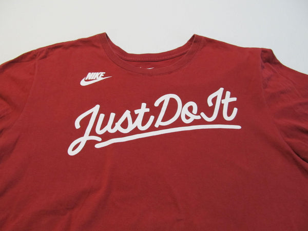 Nike Just Do It XLarge Red Short Sleeve T-Shirt, FREE Shipping