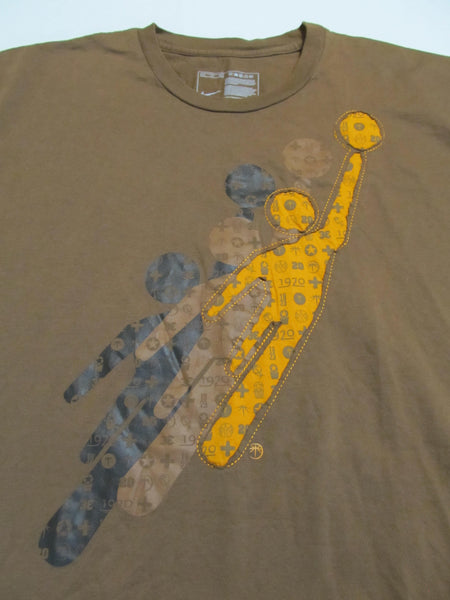 NIKE XXL Brown Short Sleeve T-Shirt, FREE Shipping