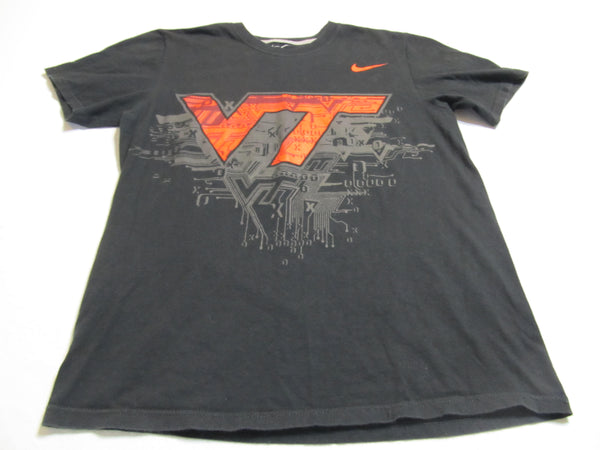 Nike VT, Virginia Tech Medium Black Short Sleeve T-Shirt, FREE Shipping