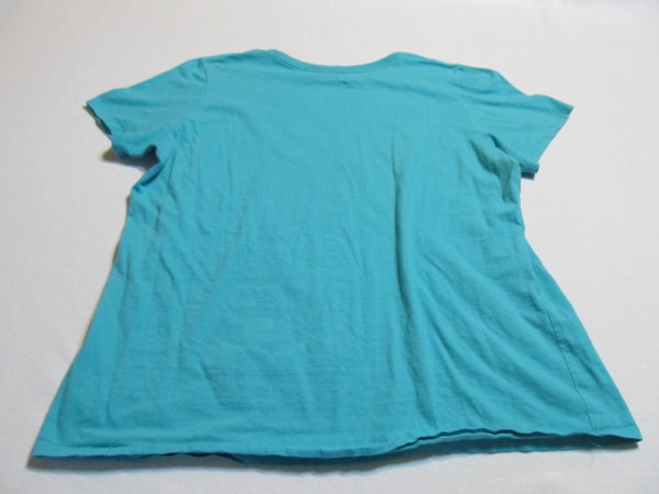 Nike Flowers Large Blue Short Sleeve T-Shirt, FREE Shipping