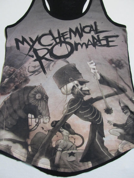 My Chemical Romance, Black and White No Sleeves, Tank Top, FREE Shipping