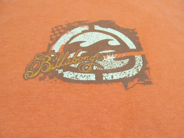 Billabong, Large Orange Short Sleeve T-Shirt, FREE Shipping