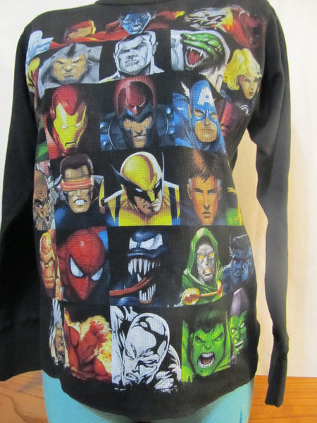 Marvel Superheros Multiple Character Collage, Long Sleeve Thermal, FREE Shipping