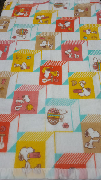 SNOOPY blanket, vintage throw, baby blanket