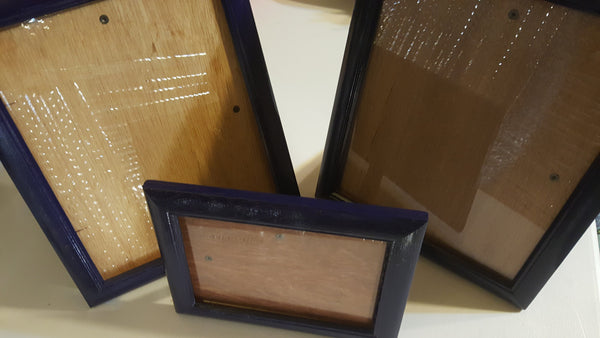 Blue, dark blue, Picture Frames