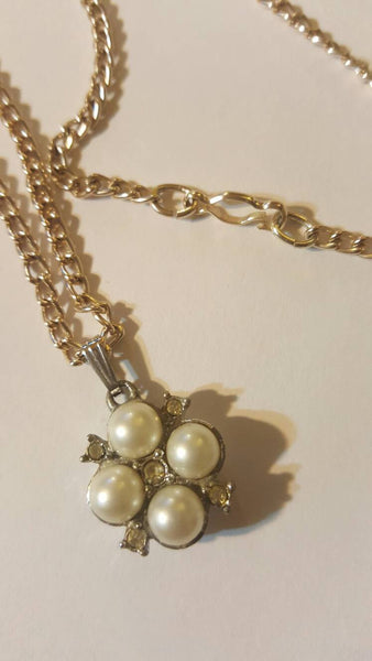 Sara Coventry Vintage Pearl Jewelry Pendant and Necklace, FREE SHIPPING