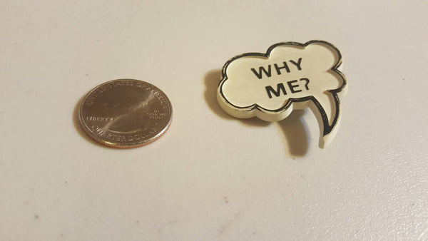 Why Me? Cloud Button, Pin vintage accessories, FREE Shipping