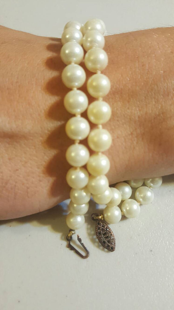 Pearl Necklace Vintage Jewelry, free shipping