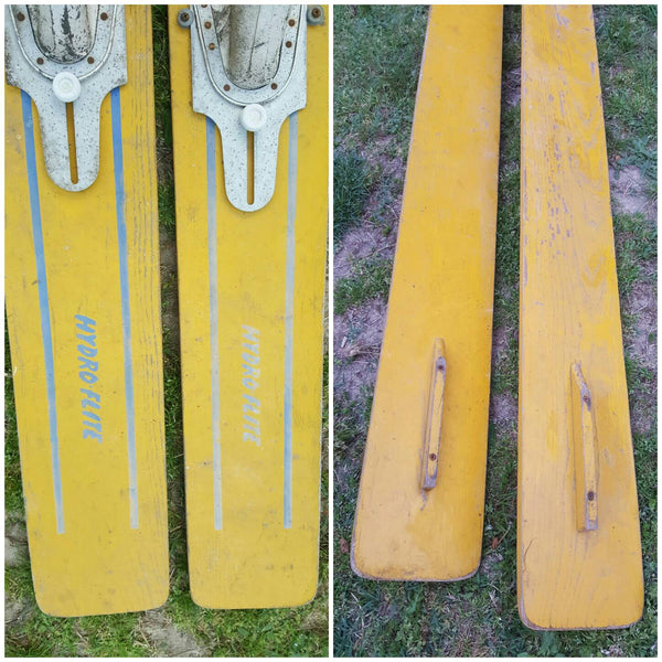 Skiis Flite Liner, Hydro Flite, Hedlund Skiis, vintage 1950s, Water Sports, Lodge Decor, Boat house decor