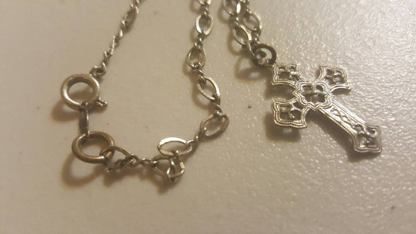 Silver Cross Necklace, FREE Shipping