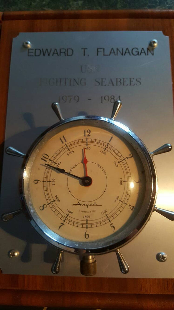Nautical Ship Wall clock, decor, wall hanging, USN, Military Airguide
