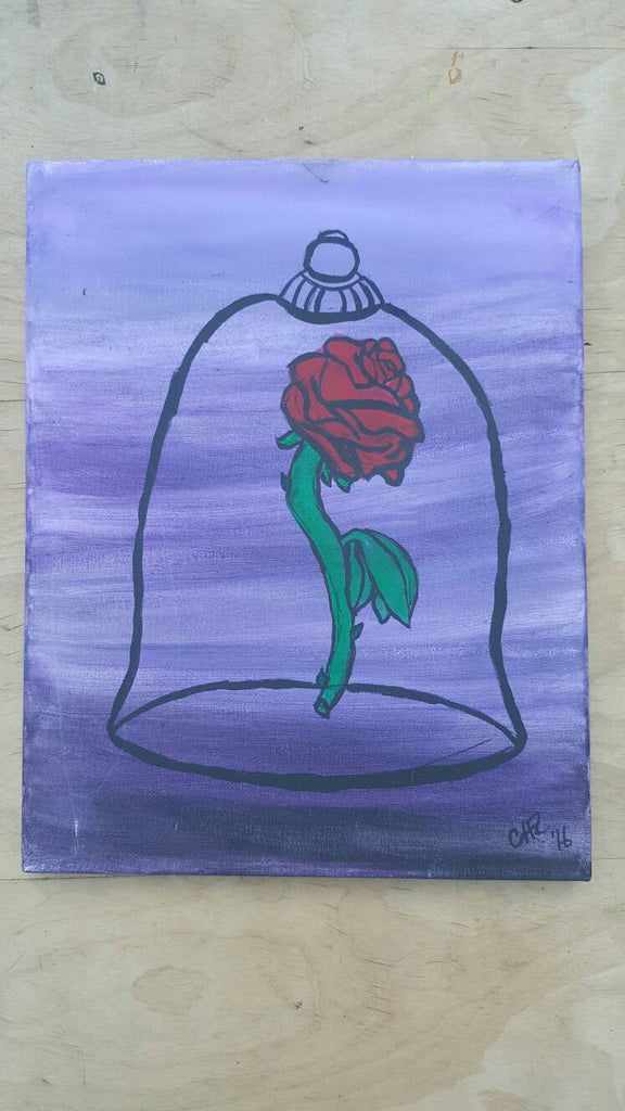 Caged Rose, Beauty and the Beast, Painting