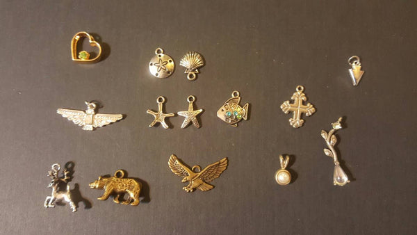 Tiny Pendants, Charms, for necklaces or bracelets