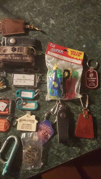 large lot of KEYCHAINS, FREE shipping