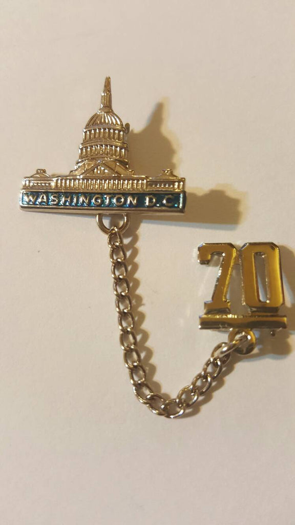 Washington DC Vintage Jewelry, silver 1970, FREE Shipping