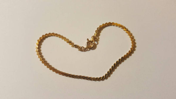 Vintage Jewelry, Gold Bracelet, FREE Shipping