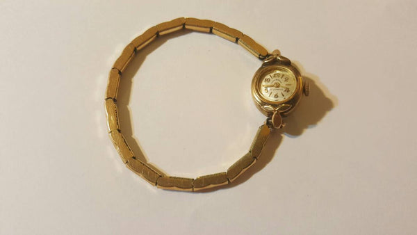 Julien Jardeign, 21 Jewels, Ladies 10K gold Watch, Vintage Jewelry Accessory, FREE Shipping