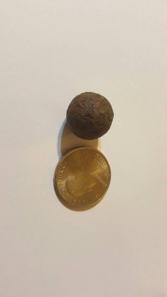 Musket Ball, Antique Ammunition, Military War Collectibles, fired bullet, civil war, free shipping