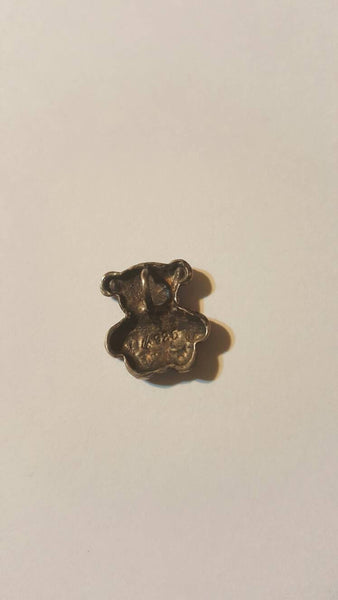 Tiny Iny Teddy Bear Itty Bitty, Vintage Jewelry, silver .925 pendant, free shipping