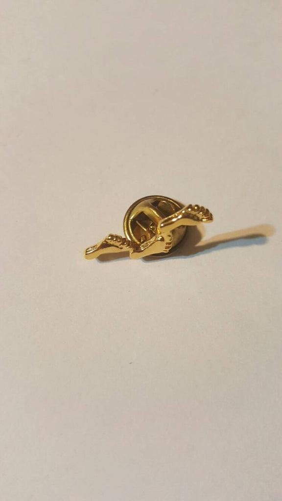Feet Prints Pin vintage gold jewelry, free shipping