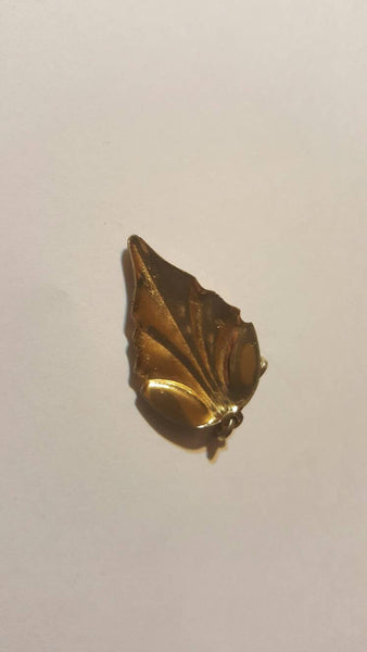 Green Gold Leaf pendant vintage jewelry