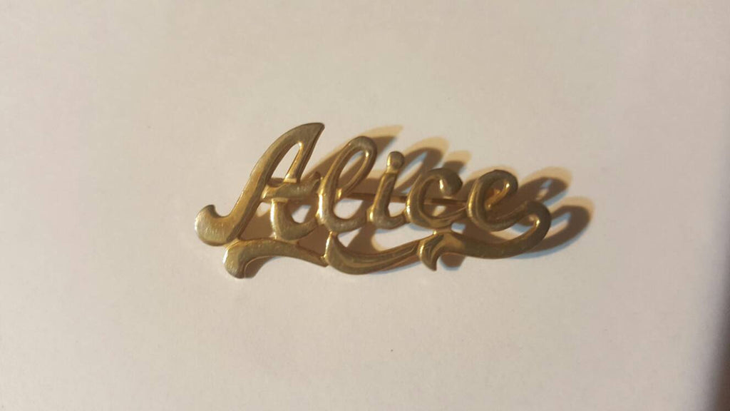 Alice Pin Gold Jewelry, free shipping