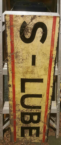 S - Lube Sign, vintage advertising, free shipping