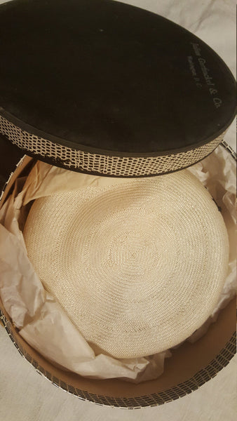 Julius Garfinckle & Co, New York NY, vintage ladies hat with original hat box
