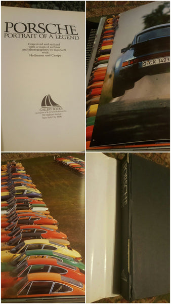 PORSCHE vintage LARGE book, free shipping
