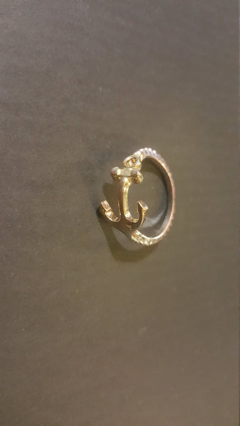 Anchor Silver Ring, free shipping