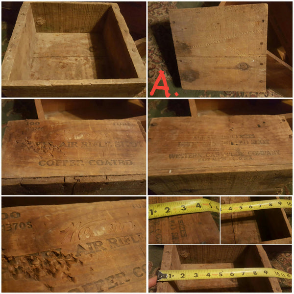 Wooden Boxes, vintage wood storage, Remington Ammunition Box