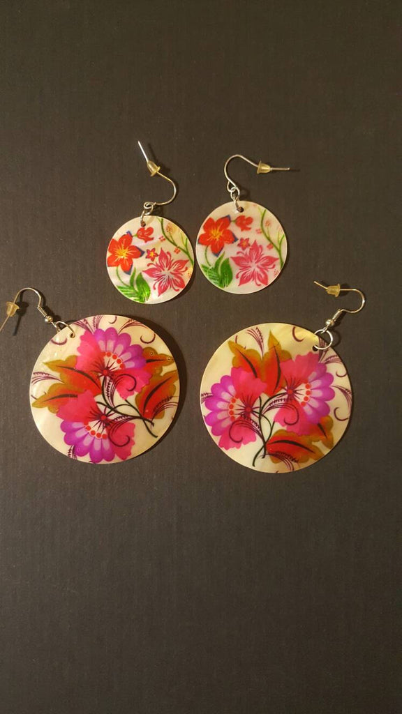 Gorgeous Floral Ear Rings, pierced dangle, free shipping