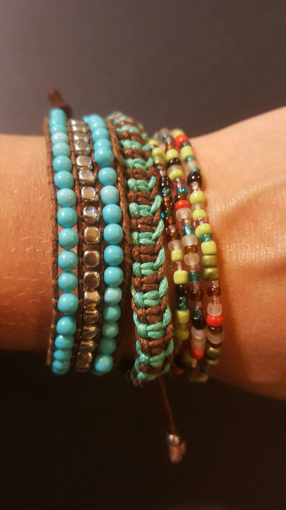 5 Bracelets, friendship, wrist accessories